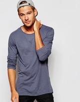 Esprit Long Sleeve T-shirt In Slub Fabric