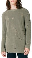 Topman Slim Fit Ripped Military Sweater