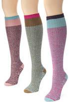 Muk Luks 3-Pack Color Block Marl Knee High Socks