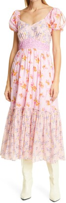 LoveShackFancy Angie Floral Midi Dress