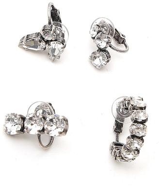 Saint Laurent Crystal Embellished Earring Set