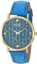 XOXO Women's Quartz Metal Watch, Color:Blue (Model: XO3462)