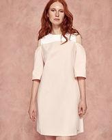 Ted Baker Cutout shoulder cotton dress