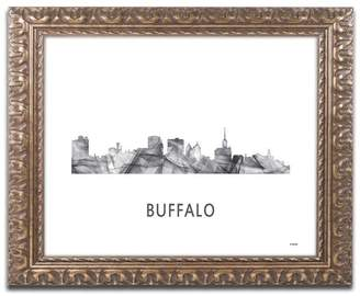 Buffalo David Bitton Trademark Fine Art 'Buffalo New York Skyline' Ornate Framed Art