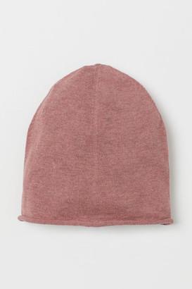 H&M Fine-knit Silk-blend Hat - Red