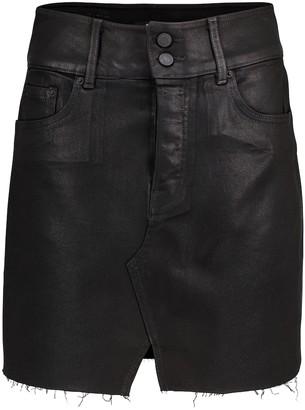 GRLFRND Evie high-rise denim miniskirt