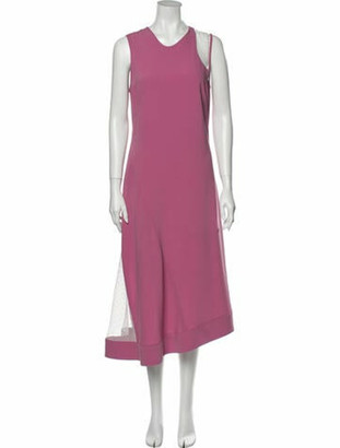 Nomia Scoop Neck Long Dress Pink