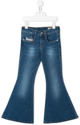 Diesel Wide Flared Jeans