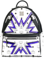 MCM contrast printed backpack - unisex - Leather - One Size