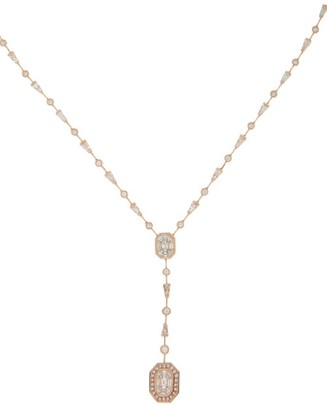 Shay Drop Illusion Diamond & 18kt Rose-gold Necklace - Crystal