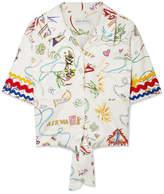 Mira Mikati Printed Cotton-blend Top