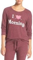 Junk Food Clothing Women's 'I Hate Mornings' Hacci Sweatshirt