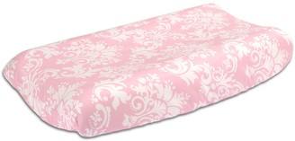 The Peanut Shell Damask Delight Changing Pad Cover