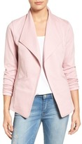 Petite Women's Caslon Cotton Knit Open Front Blazer