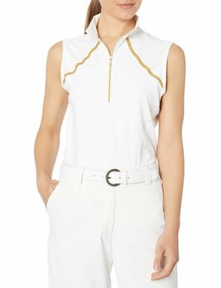 Cutter & Buck Annika Women's Moisture Wicking Drytec 50+ UPF Sleeveless Mock Neck Shirt