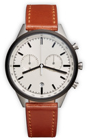 Uniform Wares C41 Men's chronograph watch in PVD grey with sand nitrile rubber strap