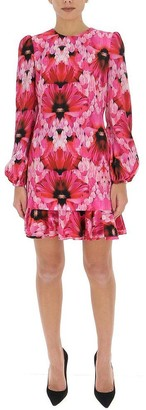 Alexander McQueen Floral Printed Mini Dress