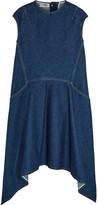Balenciaga Asymmetric Denim Dress - Dark denim