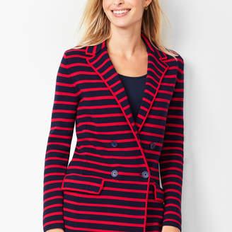 Talbots Stripe Knit Blazer