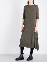 Y's Ys Flared-him loose-fit knitted dress