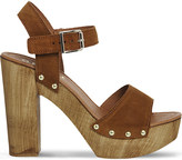 Office Amazonian suede platform sandals