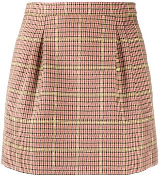 RED Valentino Houndstooth-Check Mini-Skirt