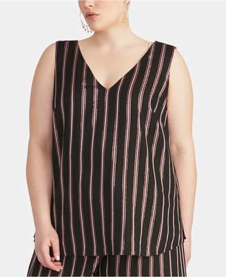 Rachel Roy Trendy Plus Size Striped Tank Top