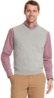 Izod Men's Solid V-neck Sweater Vest