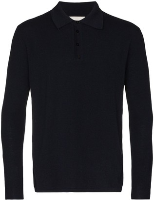 Laneus Long-Sleeved Knitted Polo Shirt