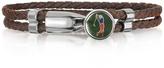 Forzieri Green Golfer Metal and Leather Men's Bracelet