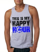 Crazy Dog T-shirts Crazy Dog Tshirts This Is My Happy Hour Tank Top Funny Workout Seeveess Tee