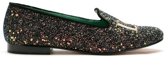 Blue Bird Shoes Love glitter loafers
