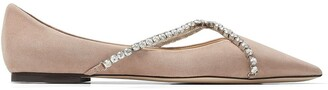 Jimmy Choo Genevi crystal-embellished ballerina shoes