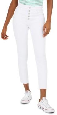 Greene St. Denim Button-Fly Straight-Leg Jeans