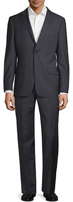 Hickey Freeman Classic Fit Mini Checkered Wool Suit