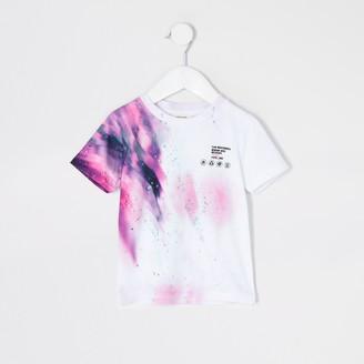 River Island Mini boys White 'Unstoppable' print T-shirt
