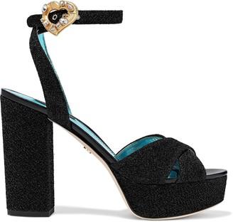 Dolce & Gabbana Embellished Lurex Platform Sandals