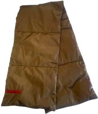 Prada Khaki Synthetic Scarves & pocket squares