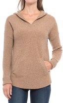 Max Studio Wool-Yak Hooded Tunic Shirt - Long Sleeve (For Women)