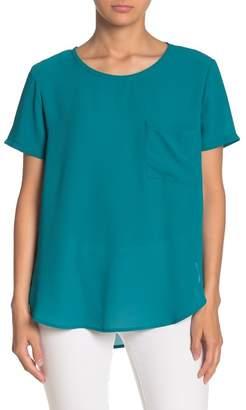 Lush Short Sleeve Woven Blouse