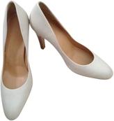 Salvatore Ferragamo White Leather Heels