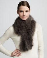 Diane von Furstenberg Fur Shawl Collar, Smoke