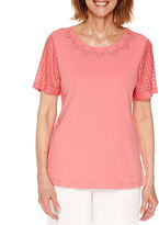 Alfred Dunner Short Sleeve Crew Neck T-Shirt