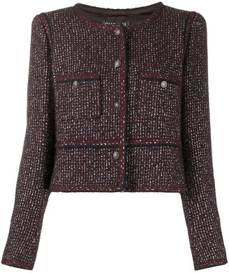 Chanel Pre Owned 2002 Cropped Tweed Jacket