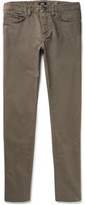 HUGO BOSS Delaware Slim-fit Stretch-cotton Twill Trousers - Army green