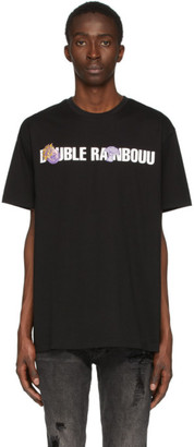 Double Rainbouu Black Logo Patch Ice T-Shirt
