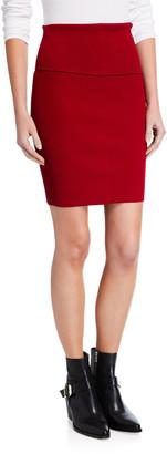 Helmut Lang Stretch Rib Mini Skirt