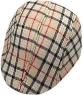 YUE-X Child Baby Flat Cap Hat Newsboy Ascot Peaked Plaid Berets-TWGbeige