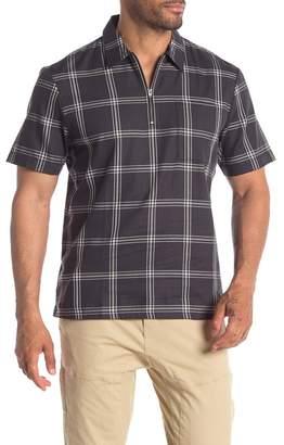 Wesc Banks 1/2 Zip Plaid Regular Fit Shirt