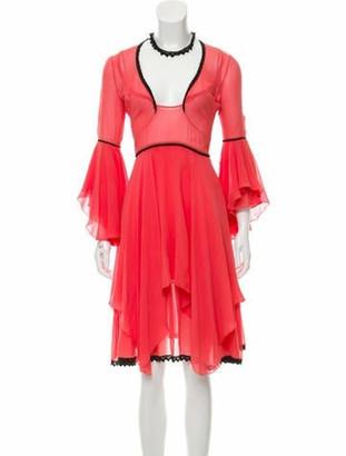 Emilio Pucci Knee-Length Draped Dress Coral
